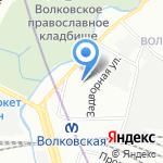 Волковский на карте Санкт-Петербурга