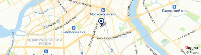 Расположение клиники Клиника доктора Груздева на Черняховского