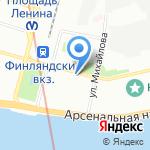 Травматологический пункт на карте Санкт-Петербурга