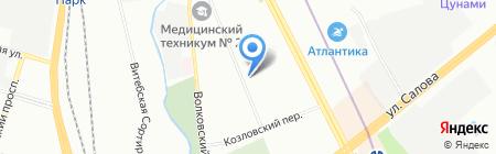 Любимый на карте Санкт-Петербурга