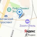 Церковь Лиговской старообрядческой общины на карте Санкт-Петербурга