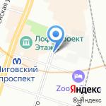 ИССО на карте Санкт-Петербурга