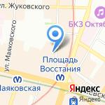 Норвик на карте Санкт-Петербурга
