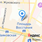 Санкт-Петербургский центр согласования на карте Санкт-Петербурга
