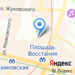 Право на успех на карте Санкт-Петербурга
