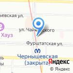Петрохлеб на карте Санкт-Петербурга