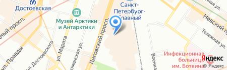 Орто на карте Санкт-Петербурга