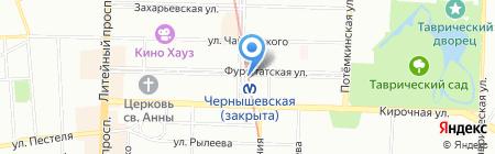 КБ Ситибанк на карте Санкт-Петербурга