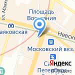 Арвис на карте Санкт-Петербурга