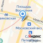 МБС на карте Санкт-Петербурга