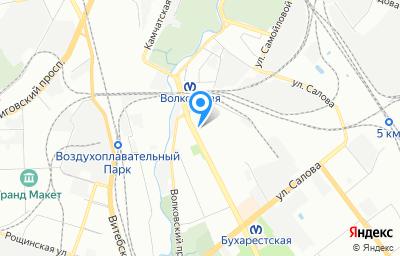 Местоположение на карте пункта техосмотра по адресу г Санкт-Петербург, ул Бухарестская, д 6