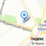 Клондайк на карте Санкт-Петербурга