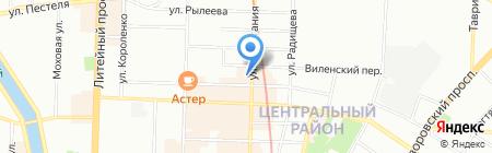 Юлиана на карте Санкт-Петербурга