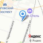 Газовый Клуб на карте Санкт-Петербурга