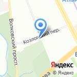 Годовой запас на карте Санкт-Петербурга