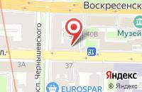 Схема проезда до компании Соланж в Санкт-Петербурге