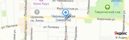 Нож справа вилка слева на карте Санкт-Петербурга