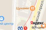 Схема проезда до компании Скандинавия в Санкт-Петербурге