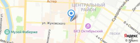 Я люблю чай на карте Санкт-Петербурга
