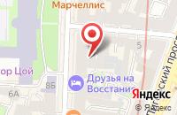 Схема проезда до компании Квартон-Сп в Санкт-Петербурге