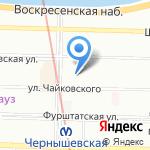Профессор на карте Санкт-Петербурга