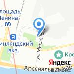 Гефест на карте Санкт-Петербурга
