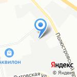 Буер на карте Санкт-Петербурга
