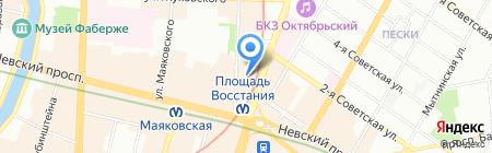 Знаменское на карте Санкт-Петербурга