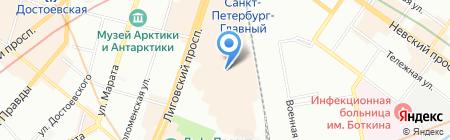 Топдизайн СПб на карте Санкт-Петербурга