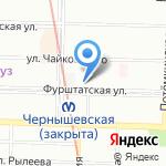 Бонжур-тур на карте Санкт-Петербурга