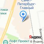 Соэкс на карте Санкт-Петербурга
