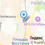 Подстреленная гусыня на карте Санкт-Петербурга