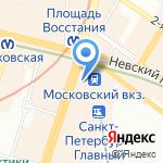 Магазин сувениров на карте Санкт-Петербурга