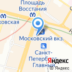 Электричка на карте Санкт-Петербурга