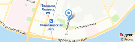 Унисервис на карте Санкт-Петербурга