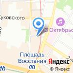 Клумба на карте Санкт-Петербурга