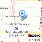 Таврическая на карте Санкт-Петербурга