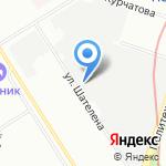 Экран на карте Санкт-Петербурга