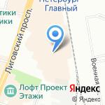 МЕНДЕЛЕЕВ на карте Санкт-Петербурга