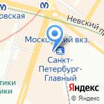 Быстроежка на карте Санкт-Петербурга