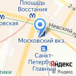 Любимые с детства на карте Санкт-Петербурга