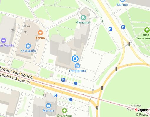 Жилищно-строительный кооператив «Марс» на карте Санкт-Петербурга