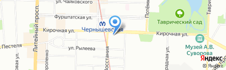 Tez Tour на карте Санкт-Петербурга