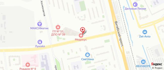 Карта расположения пункта доставки Орджоникидзе в городе Санкт-Петербург