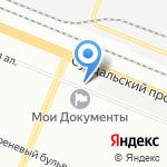 Эстакада на карте Санкт-Петербурга