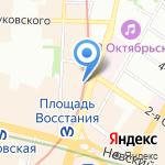 Адвокатская консультация №25 на карте Санкт-Петербурга
