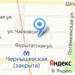 Спартак на карте Санкт-Петербурга