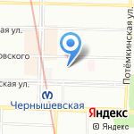 Флайт на карте Санкт-Петербурга