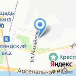 Водоканал-Центр Измерений на карте Санкт-Петербурга