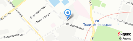Синдбад на карте Санкт-Петербурга